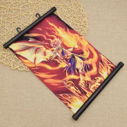 Anime Fairy Tail Flame Burning Poster Wall Hanging Scroll Fa