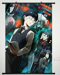 Anime Tokyo Ghoul Home Decor Wall Scroll Poster Fabric Paint