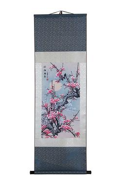 Art Asian Wall Scroll, Silk Chinese Painting Oriental Wall D