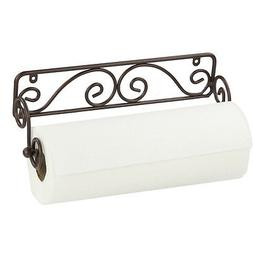 Home Basics Bronze Scroll Wire Wall Mounted Kitchen Paper To