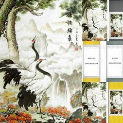 Crane and Waterfalls Asian Chinese Japanese Canvas Scroll Ha