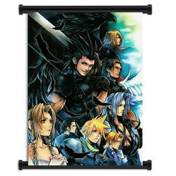 Crisis Core Final Fantasy 7 Game Fabric Wall Scroll Poster