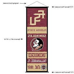 Florida State Seminoles Banner and Scroll Sign