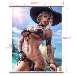 Game Overwatch OW Ashe Wall Scroll Poster free shipping(23