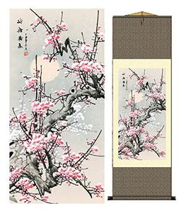 grace art asian wall scroll plum blossom