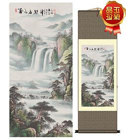 Grace Art Asian Wall Scroll, Infinite Mountain River