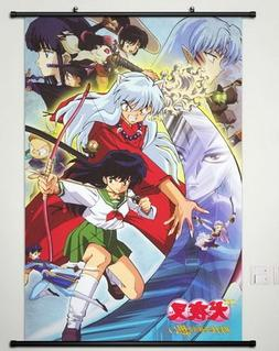 Home Decor Anime Cosplay Inuyasha Sesshomaru Wall Scroll Pos