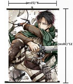 HOT Anime Attack on Titan Wall Poster Scroll Home Decor Cosp