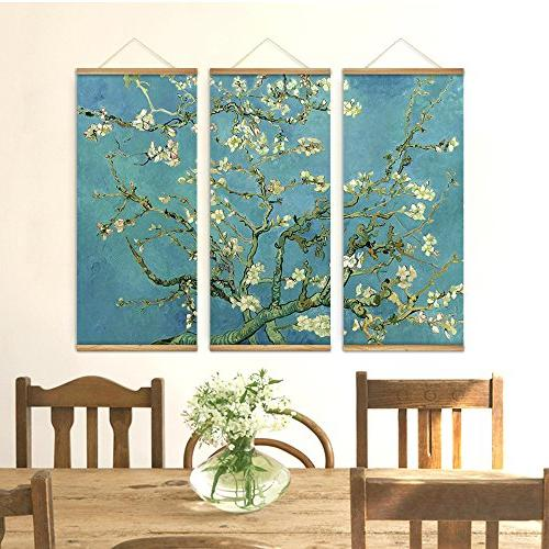 3 Blossom Art Pictures Wooden Paintings Room Home To Hang