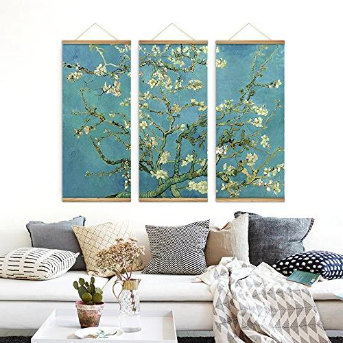 3 Pieces Impressionism Blossom Pictures Canvas Scroll Paintings For Living Home Hang