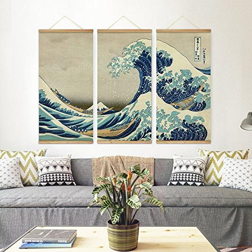 ARTGOW The great wave Kanagawa Wall Pictures Canvas Scroll Paintings For Living Room