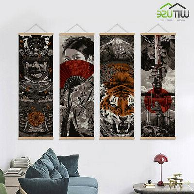 Japanese Wall Picture Scroll With