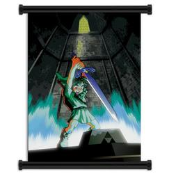 Legend of Zelda: Ocarina of Time Game Fabric Wall Scroll Pos