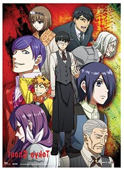 Official Licensed Tokyo Ghoul: Group Wall Scroll, 33 x 44 In