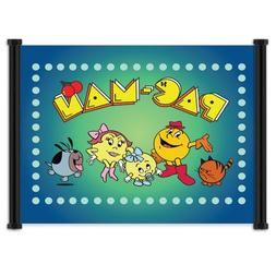 PacMan: Classic Videogame/Cartoon Cloth Wall Scroll Poster