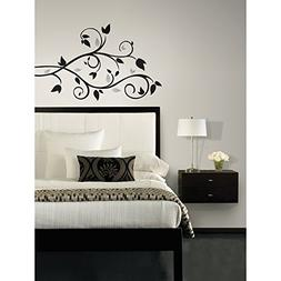 Roommates Scroll Branch Foil Leaves Peel & Stick Wall Decals