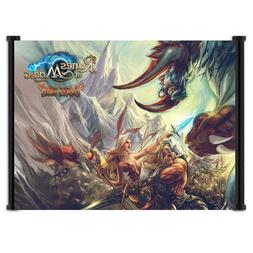 Runes of Magic Game Fabric Wall Scroll Poster  Inches