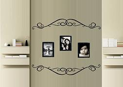 """Scroll Border #639 ~ WALL or GLASS DECAL qty 2- 6"""" x 39"""" Eac"""