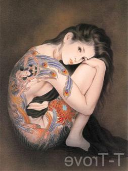 Tattoo Japanese Lady Wall Scroll R15