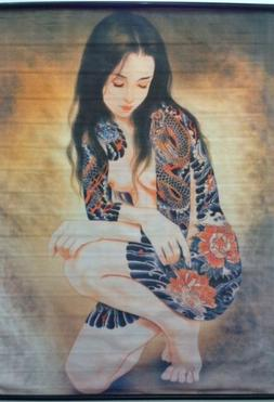 Tattoo Japanese Lady Wall Scroll R26