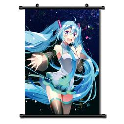 Vocaloid Hatsune Miku Anime Wall Art Home Decoration Scroll