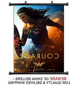 Wonder Woman Gal Gadot 2017 Movie Fabric Wall Scroll Poster